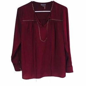 Vince Camuto studded popover blouse.